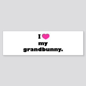 I love my grandbunny. Sticker (Bumper)
