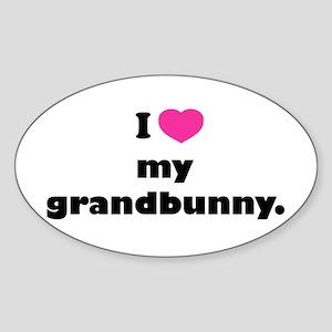 I love my grandbunny. Sticker (Oval)