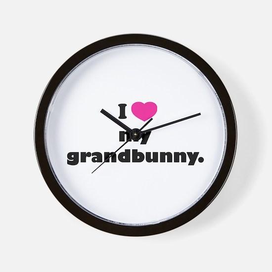 I love my grandbunny. Wall Clock