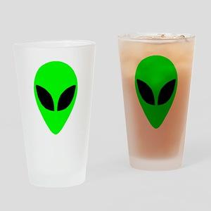 Alien Head Pint Glass