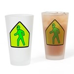 Alien Crossing Pint Glass
