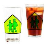 Alien School Xing Pint Glass