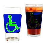 Handicapped Alien Pint Glass