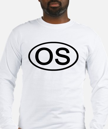 OS - Initial Oval Long Sleeve T-Shirt