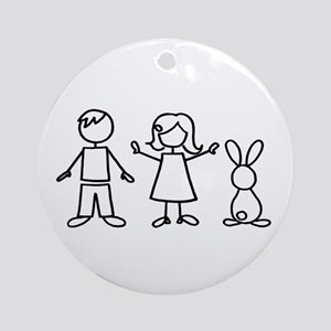 1 bunny family Ornament (Round)