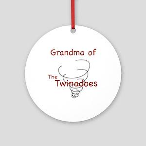 Grandma of Twinadoes Ornament (Round)