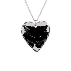 Fluffy Cat Silhouette Necklace