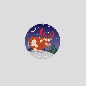 Christmas Eve Cow Mini Button