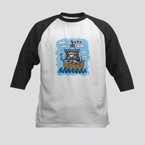Pirate Ship Kids Baseball Jersey