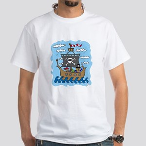 Pirate Ship White T-Shirt