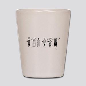 Group of Petroglyph Peoples Shot Glass