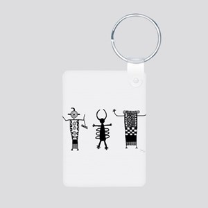 Petroglyph Peoples II Aluminum Photo Keychain