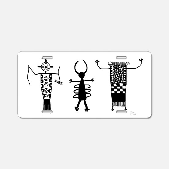 Petroglyph Peoples II Aluminum License Plate
