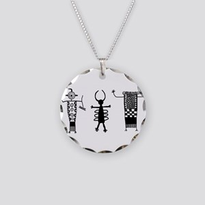 Petroglyph Peoples II Necklace Circle Charm