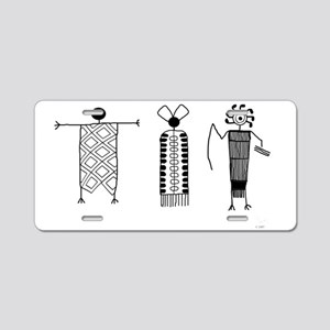 Petroglyph People Aluminum License Plate
