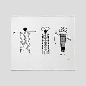 Petroglyph People Throw Blanket