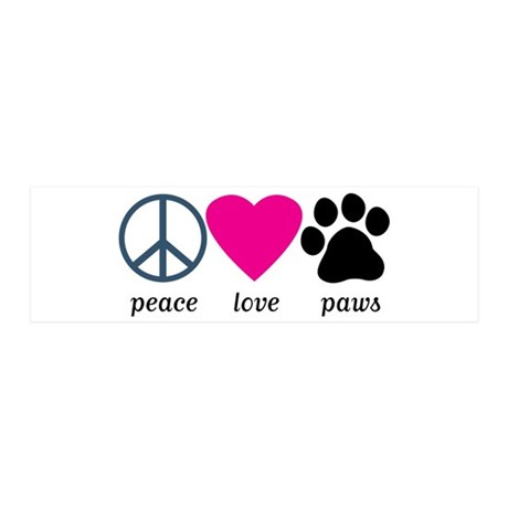Peace Love Paws 21x7 Wall Peel