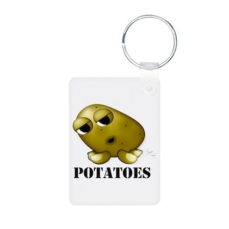 Potato Head with Toes Aluminum Photo Keychain