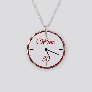 Wine 30 Necklace Circle Charm