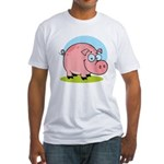 Happy Pig Fitted T-Shirt