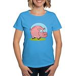 Happy Pig Women's Dark T-Shirt