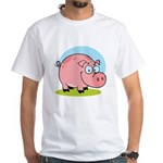 Happy Pig White T-Shirt