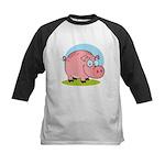 Happy Pig Kids Baseball Jersey