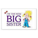 I'm the New Big Sister Sticker (Rectangle 50 pk)