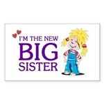 I'm the New Big Sister Sticker (Rectangle 10 pk)