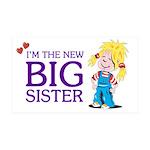 I'm the New Big Sister 38.5 x 24.5 Wall Peel