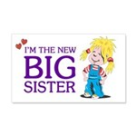 I'm the New Big Sister 22x14 Wall Peel