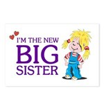 I'm the New Big Sister Postcards (Package of 8)