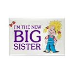 I'm the New Big Sister Rectangle Magnet (100 pack)