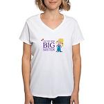 I'm the New Big Sister Women's V-Neck T-Shirt