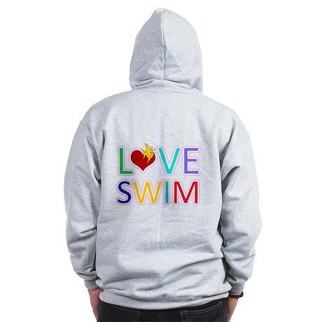 LOVE SWIM Zip Hoodie