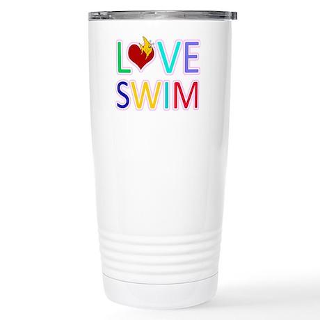 LOVE SWIM Stainless Steel Travel Mug
