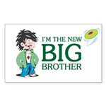 I'm the New Big Brother Sticker (Rectangle 10 pk)