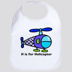 H is for Helicopter! Bib