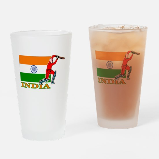 India Cricket Player Pint Glass