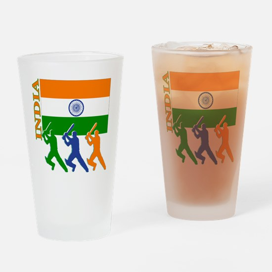 India Cricket Pint Glass