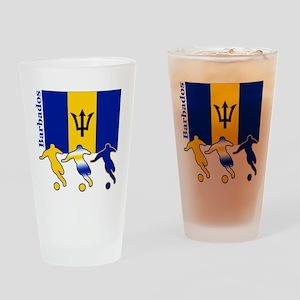 Barbados Soccer Pint Glass