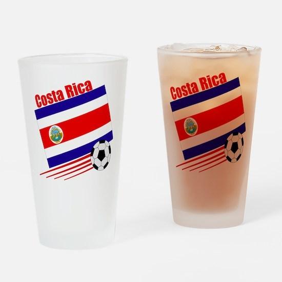Costa Rica Soccer Team Pint Glass