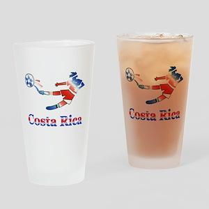 Costa Rica Soccer Player Pint Glass