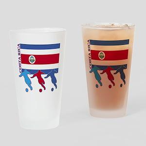 Costa Rica Soccer Pint Glass