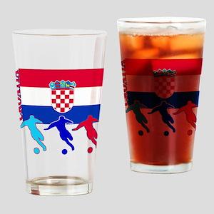 Croatia Soccer Pint Glass