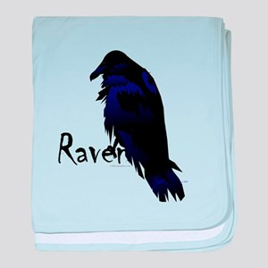 Raven on Raven baby blanket