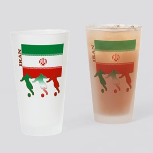 Iran Soccer Pint Glass