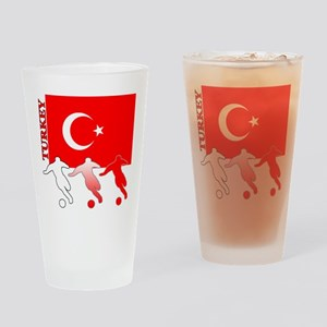Turkey Soccer Pint Glass