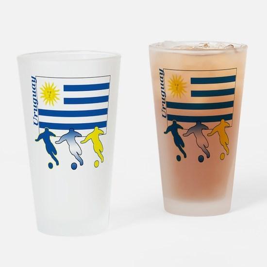 Uruguay Soccer Pint Glass