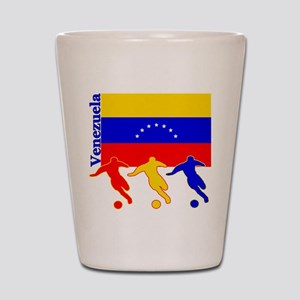 Venezuela Soccer Shot Glass